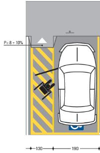Area sosta disabili for Disegni di posto auto coperto in piedi