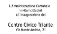 inaugurazione centro civico triante